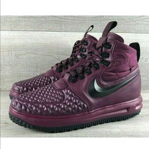 Nike Lunar Force 1 Duck Boot Burgundy Shoe